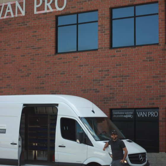 VanPro building shelving mobile bike proshop